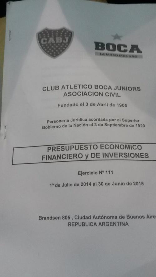 Presupuesto Boca 2014