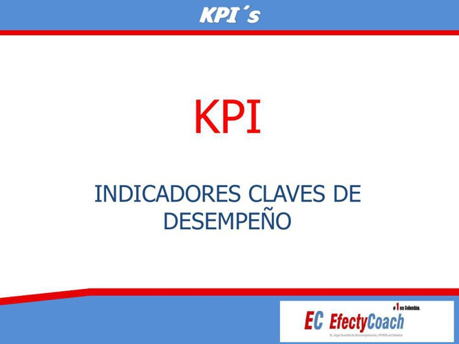 KPI INDICADORES CLAVES DE DESEMPEÑO