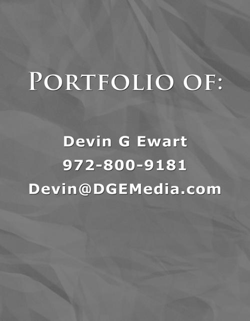 Devin G Ewart's - Digital Portfolio