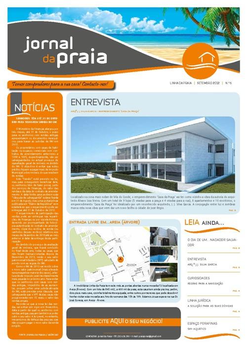 """Edição Setembro """"Jornal da Praia"""""""