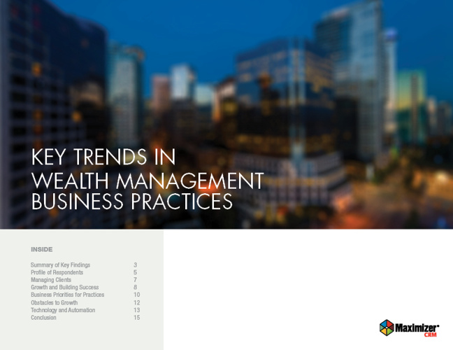 Key Trends in Wealth Management Business Practices