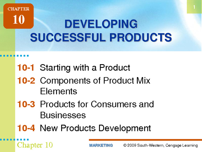 Developing Successful Products