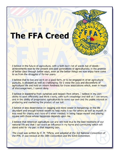 Spanish FFA Creed