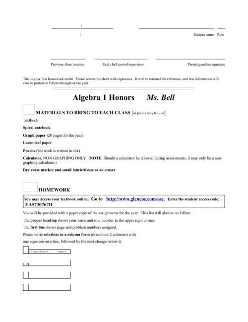 Alg 1 H letter bk