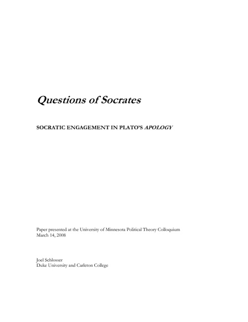 Question Of Socrates