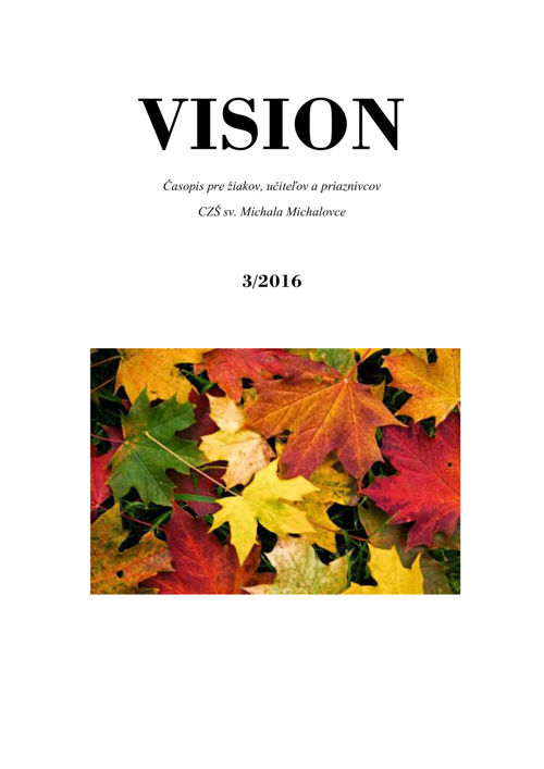 VISION - 3/2016