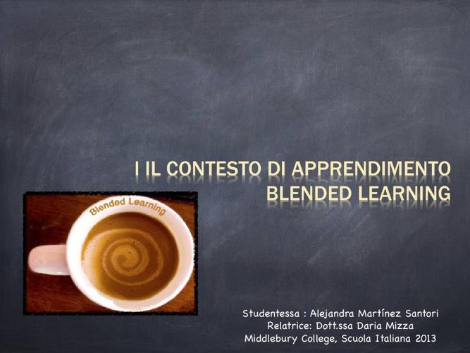 Copy of Il Contesto di apprendimento Blended Learning