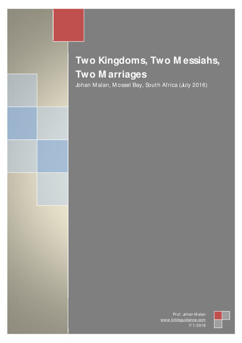 Two Kingdoms_Two Messiahs_Two Marriages