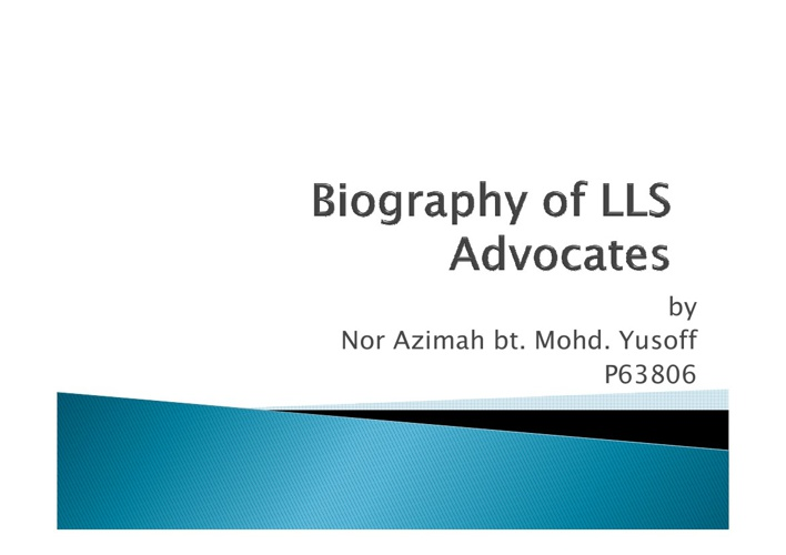 LLS advocates