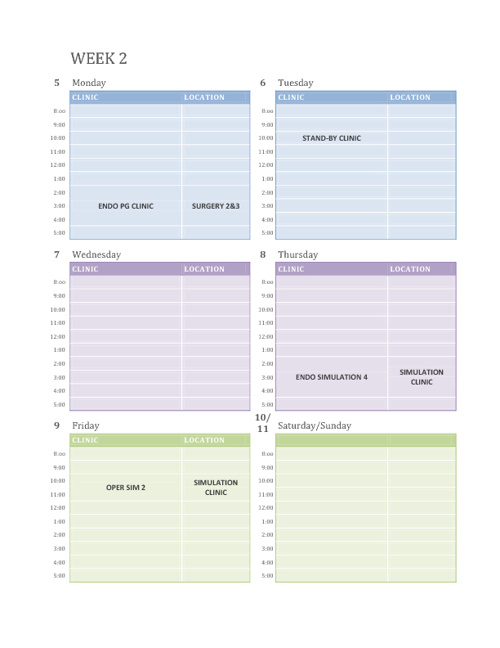 November 2012 Schedule
