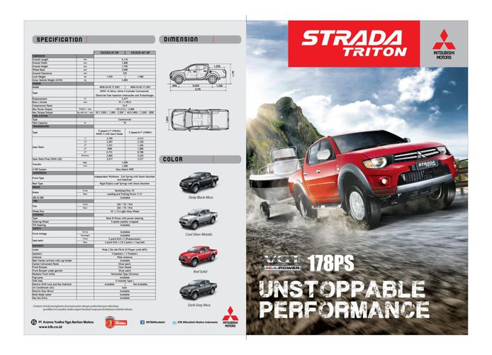 Brosur Mitsubishi Strada Triton Exceed