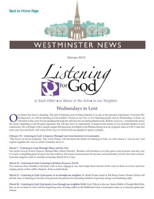 WPC February 2012 Newsletter