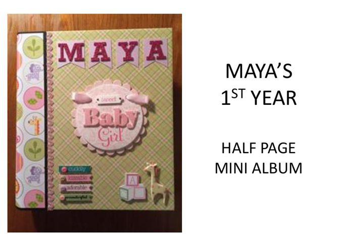 Maya's Half Page Mini Album