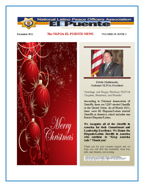 NLPOA El Puente Newsletter - December 2011