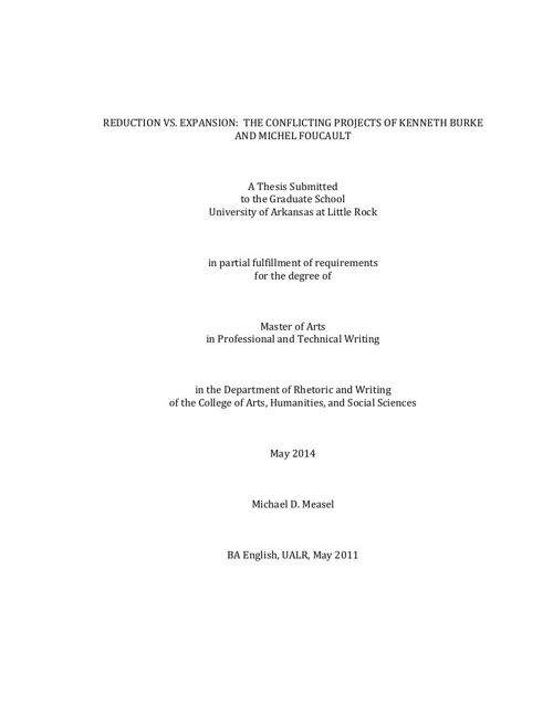 Measel MA Thesis Reduction and Expansion
