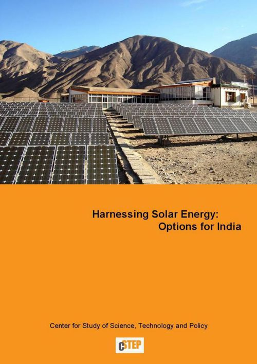 Harnessing Solar energy, Options for India