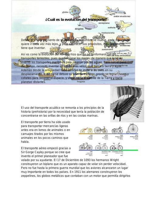 ¿Cuál es la evolución del transporte?