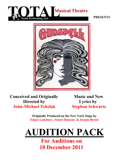 Godspell Audition Pack: