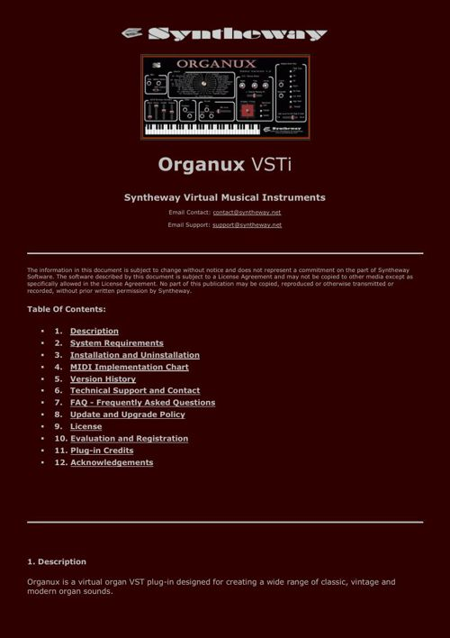 Organux VST Cathedral Baroque Church Gothic Hammond B3 OB3 Organ