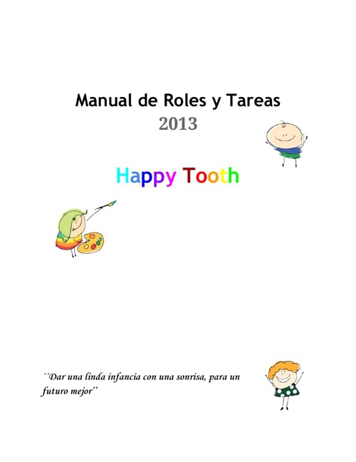 2013 2F Happy Tooth 06 Manual de Roles y Tareas