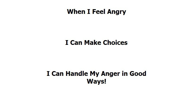 When I Feel Angry- A Social Story for Cal