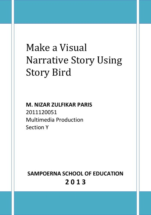 Make a Visual Narrative Story Using Story Bird