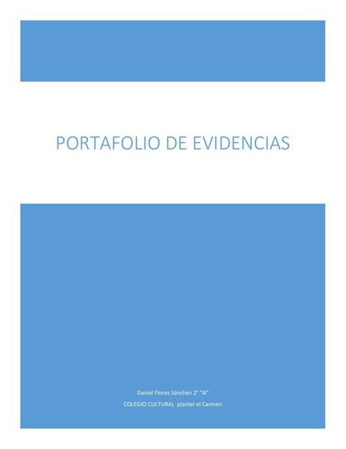 portafolio de evidencias Daniel flores sanchez 2A