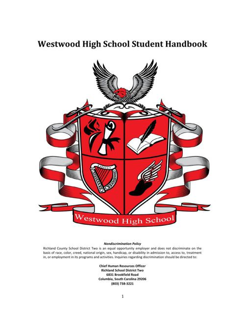 Westwood Student Handbook 2015