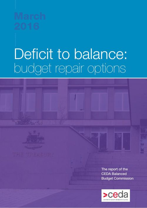 Deficit to balance: budget repair options