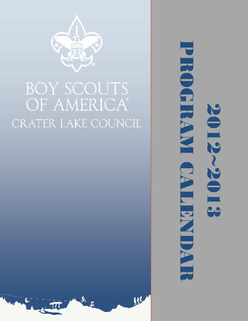 2012-2013 Crater Lake Council Calendar