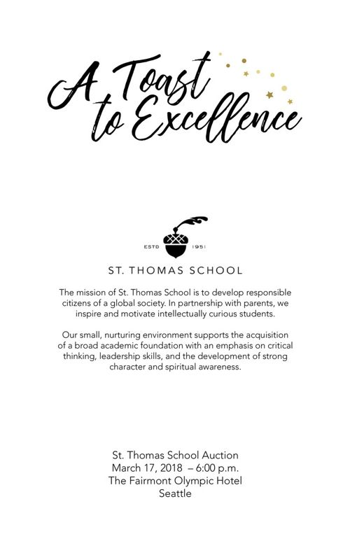 2018 St. Thomas School Auction Catalog