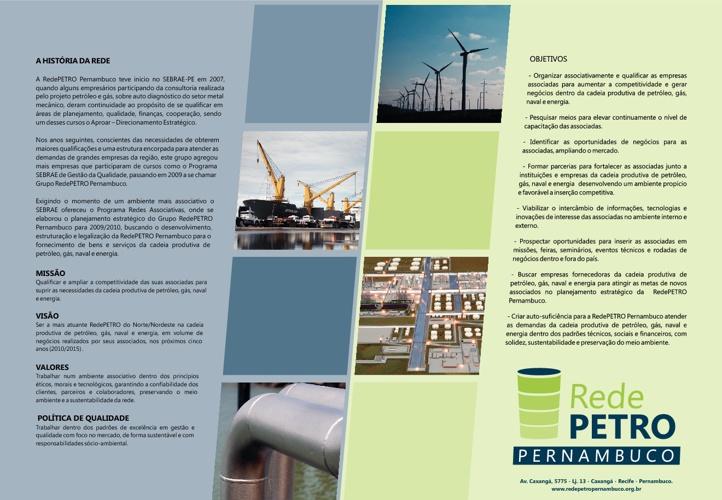 Folder RedePETRO Pernambuco