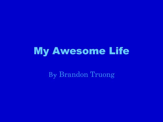 My Awesome Life Brandon