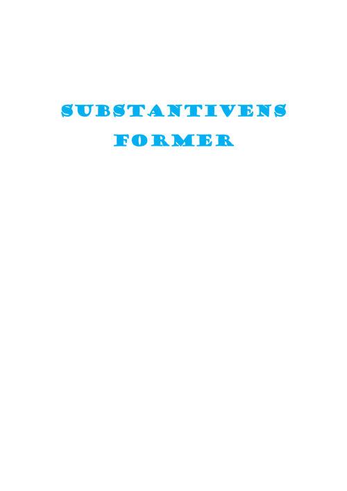 Substantivens formerFlip