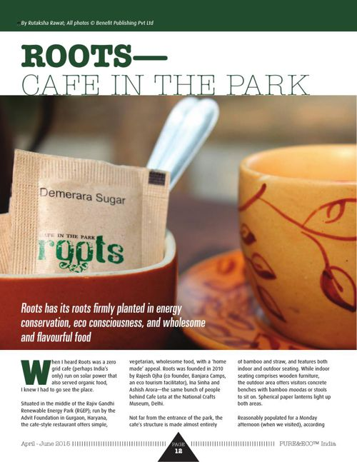 By Rutaksha rawat -ROOTS—CAFE IN THE PARK  posted on 30 april 15