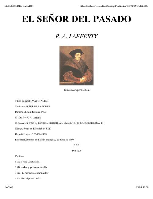Lafferty, Raphael A