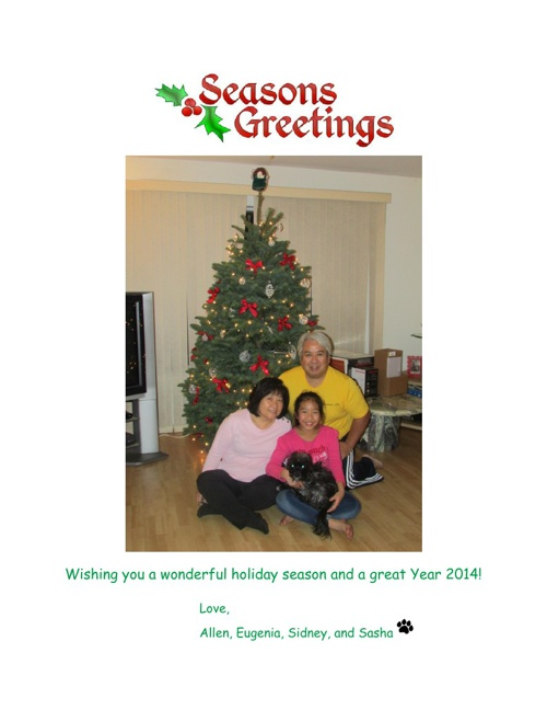 Seasons Greetings 2013