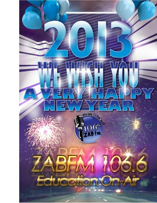 We Wish You All a Very Happy New Year -2013