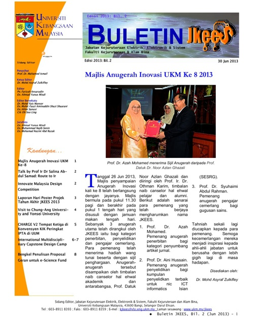 Buletin JKEES Edisi Jun 2013