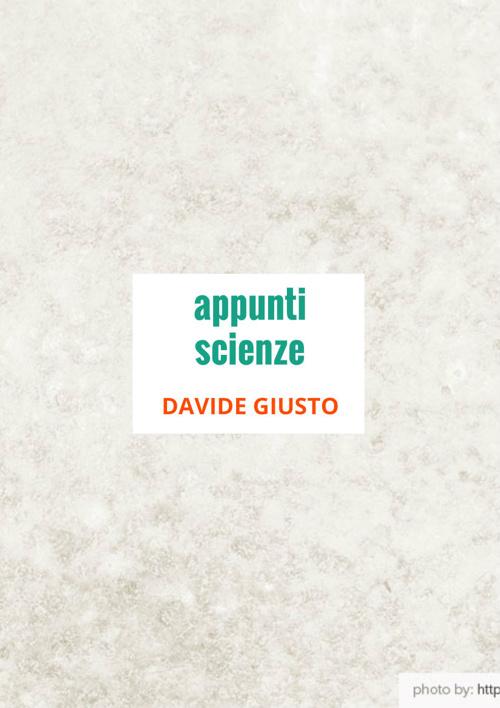 APPUNTI SCIENZE 2013-2014