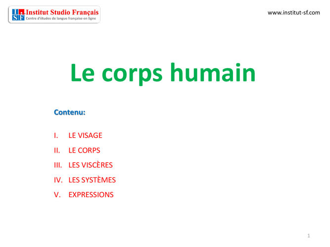Corps humain FLE