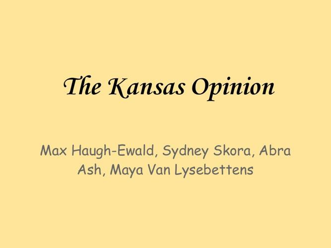 The Kansas Opinion