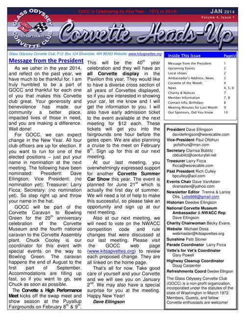 GOCC January 2014 Newsletter