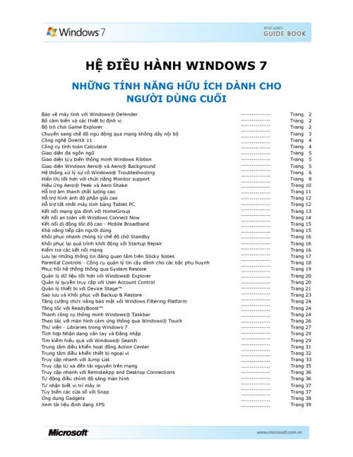 Win7 guide