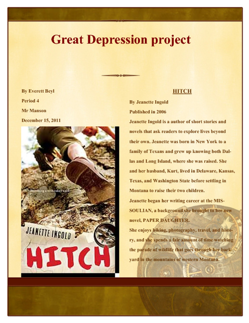 Great Depression Project