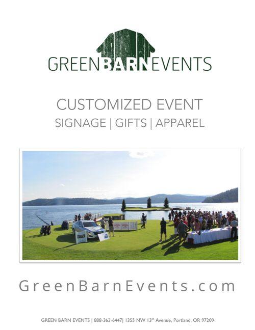 Green Barn Events 2017 Signage Catalog