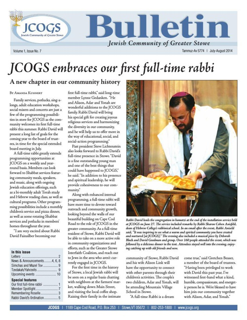 JCOGS Bulletin – Volume 1, Issue 7