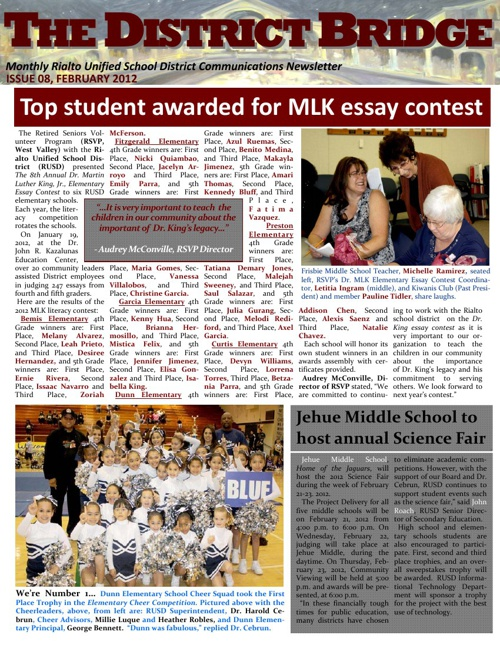 RUSD Newsletter Anthology 2012