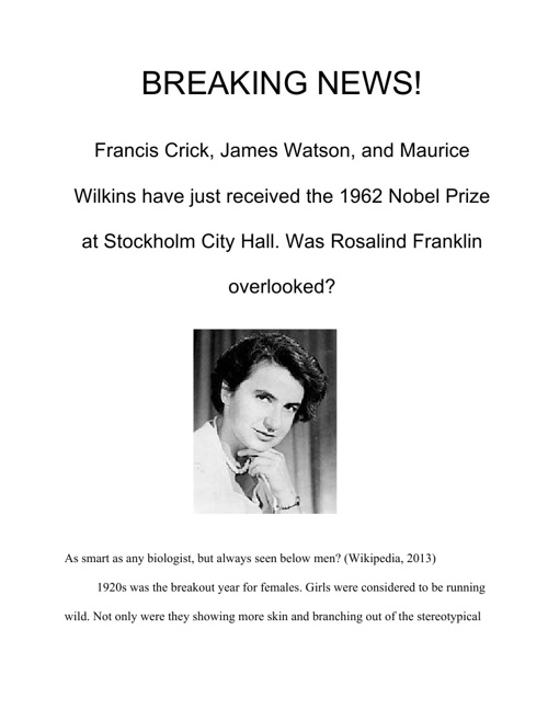 Vice Celebrates Rosalind Franklin