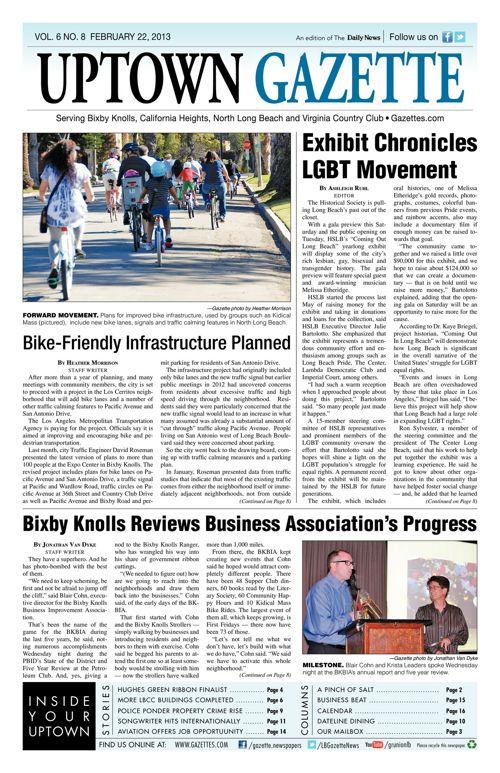 Uptown Gazette     February 22, 2013